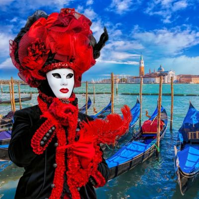 Famous carnival in Venice, Italy